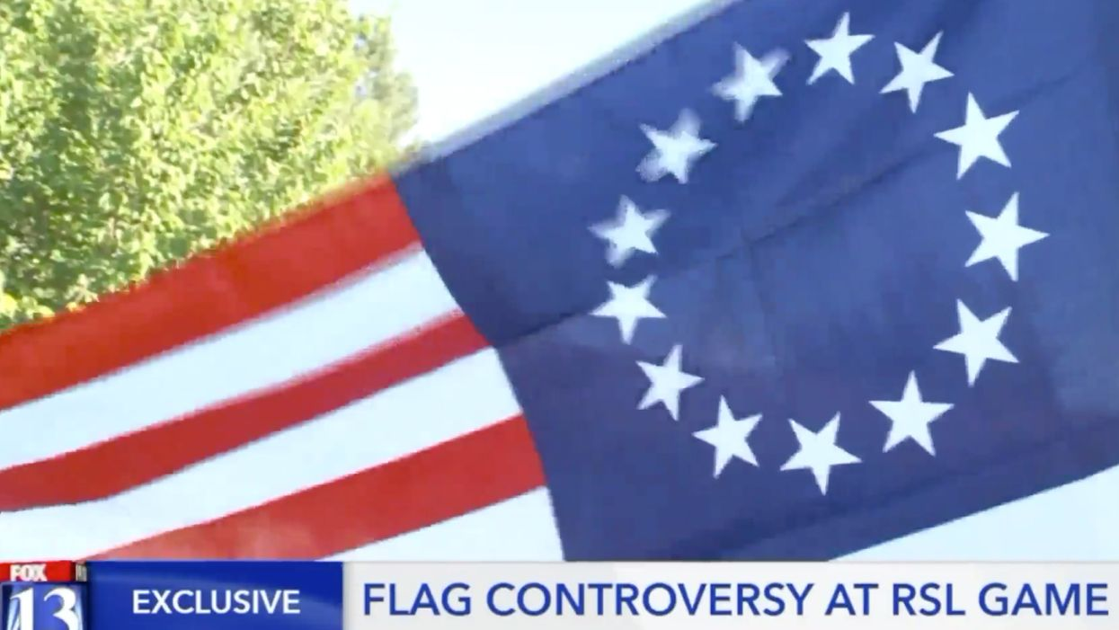 Couple says soccer stadium officials demanded they take down their Betsy Ross flag during game because it had become a symbol for hate groups