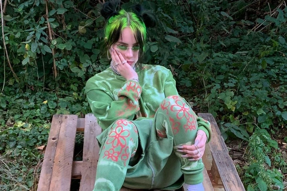 Billie Eilish's Neon Roots Are a Fall Hair Trend In the Making