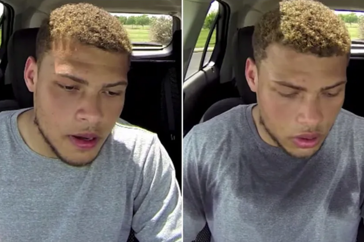 Football player locked himself in a hot car to show what it's like for dogs