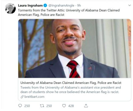 University Of Alabama Dean YOU'RE FIRED For Tweeting While