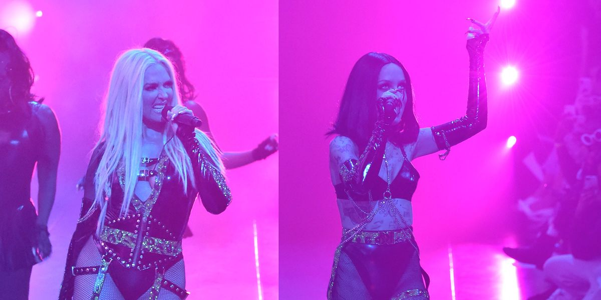 Erika Jayne and Brooke Candy Performed at NYFW Together