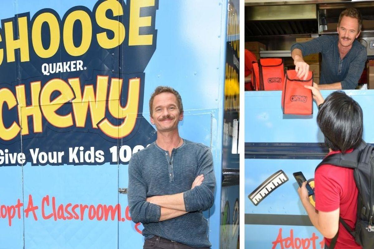 The 'legen—wait for it—dary' Neil Patrick Harris is pushing snack bars to help teachers
