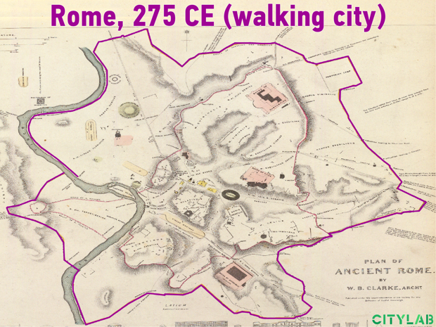 Ancient Rome, walking city