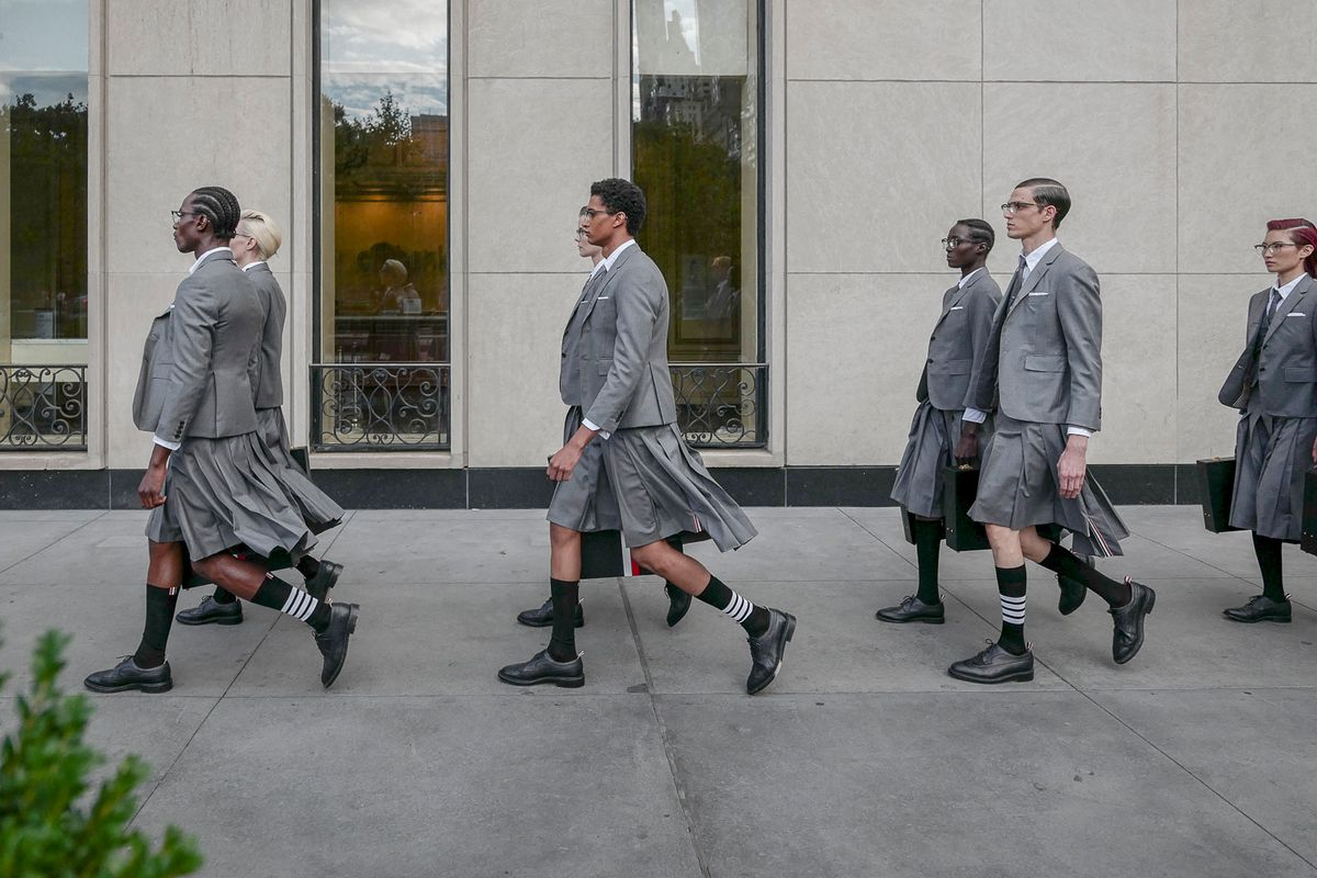 Thom Browne Blessedly Sort of Returned to NYFW
