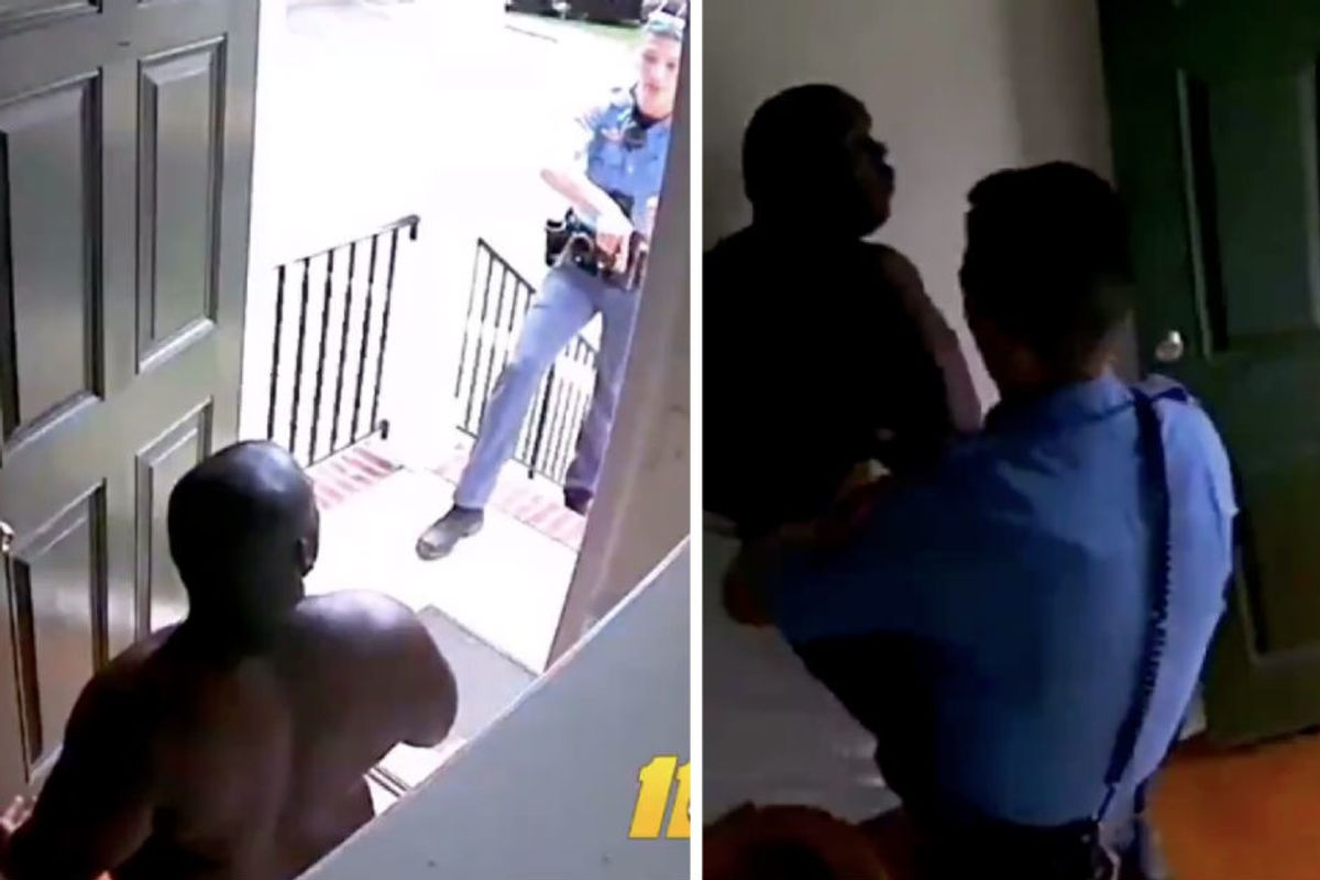 Police broke into an innocent black man's house and arrested him. It was all caught on camera.