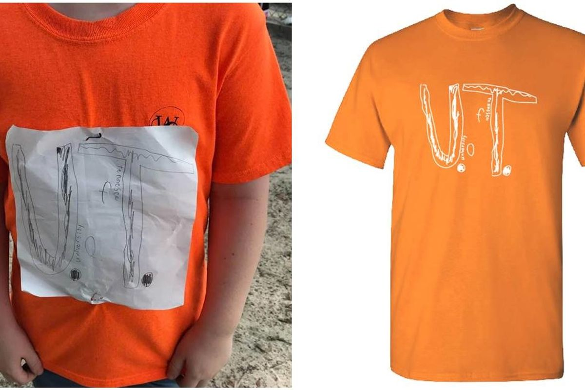 A boy was bullied for making his own Tennessee Vol's shirt. Now it's the school's official logo.