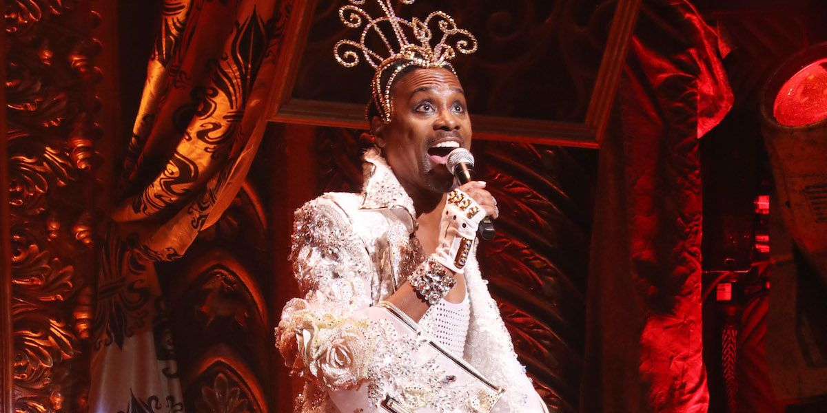"""Billy Porter Performed """"Lady Marmalade"""" To Close The Blonds NYFW Runway"""