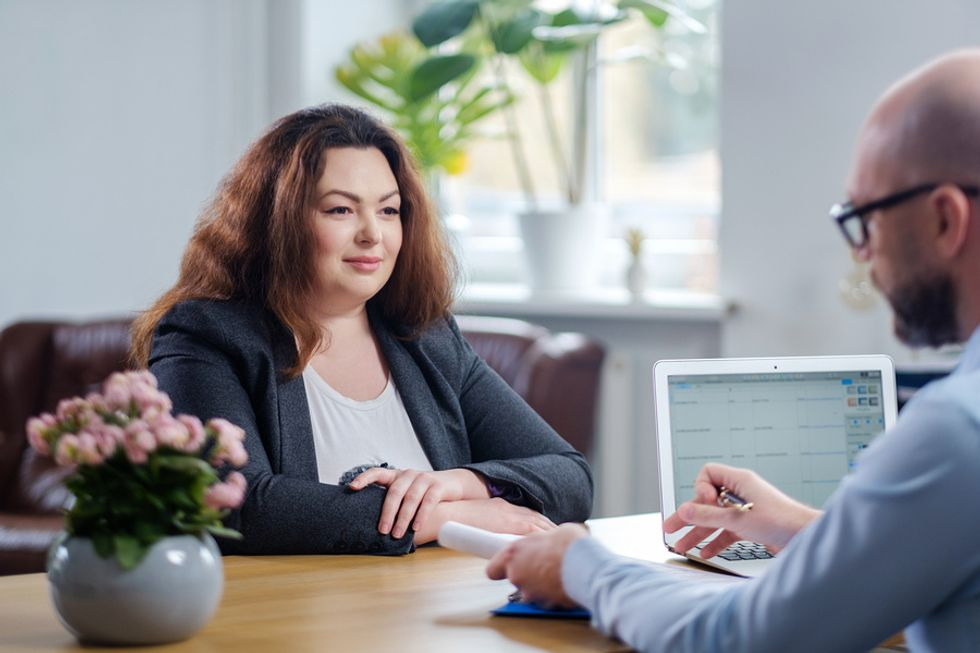 Job candidate explains why the employer should hire her