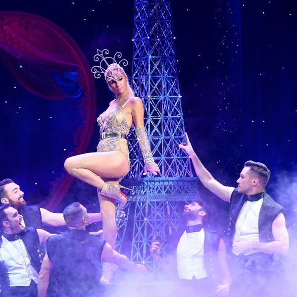 Paris Hilton Mounted the Eiffel Tower at The Blonds