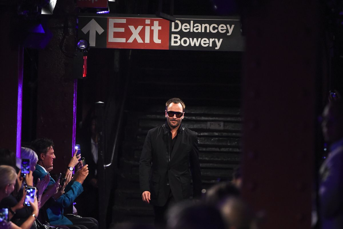 Tom Ford Took Over an Empty Subway Station at NYFW