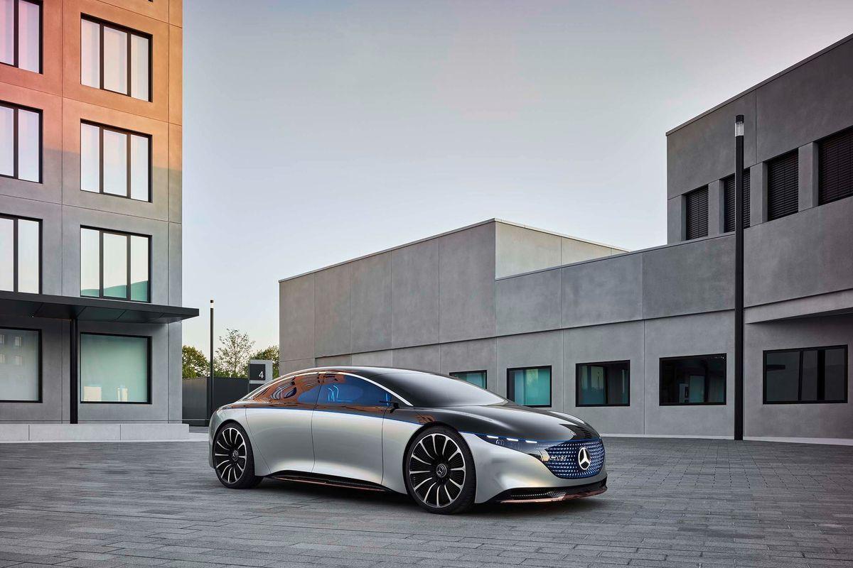 Mercedes-Benz Vision EQS front side wheels grille