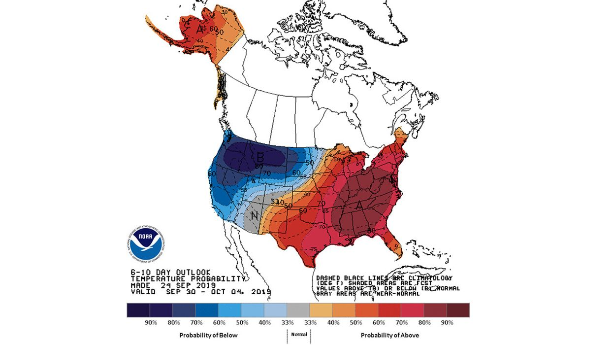 Endless Summer? NOAA Predicts U.S. Will Have Above Average Autumn Heat