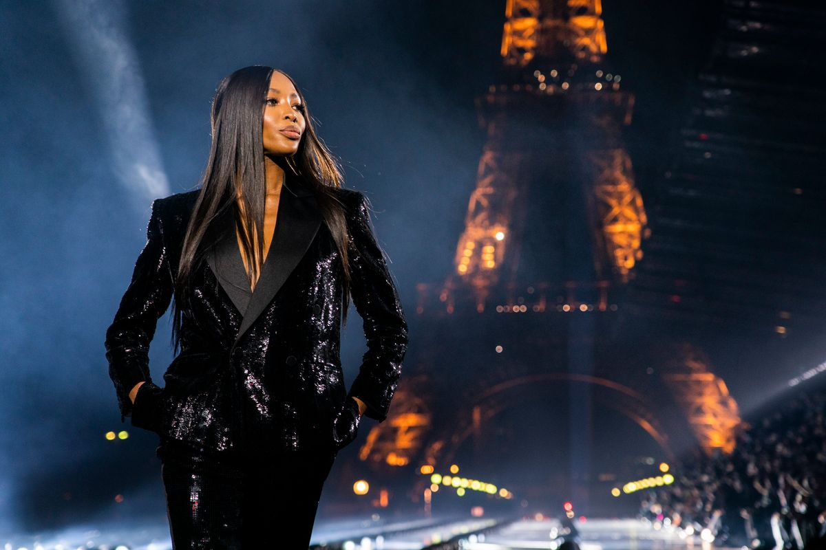 Naomi Campbell Returns to the YSL Runway