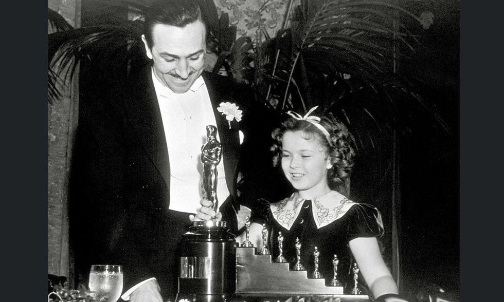 Walt Disney e Shirley Temple
