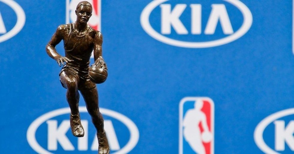 The KIA NBA Maurice Podoloff Most Valuable Player Trophy