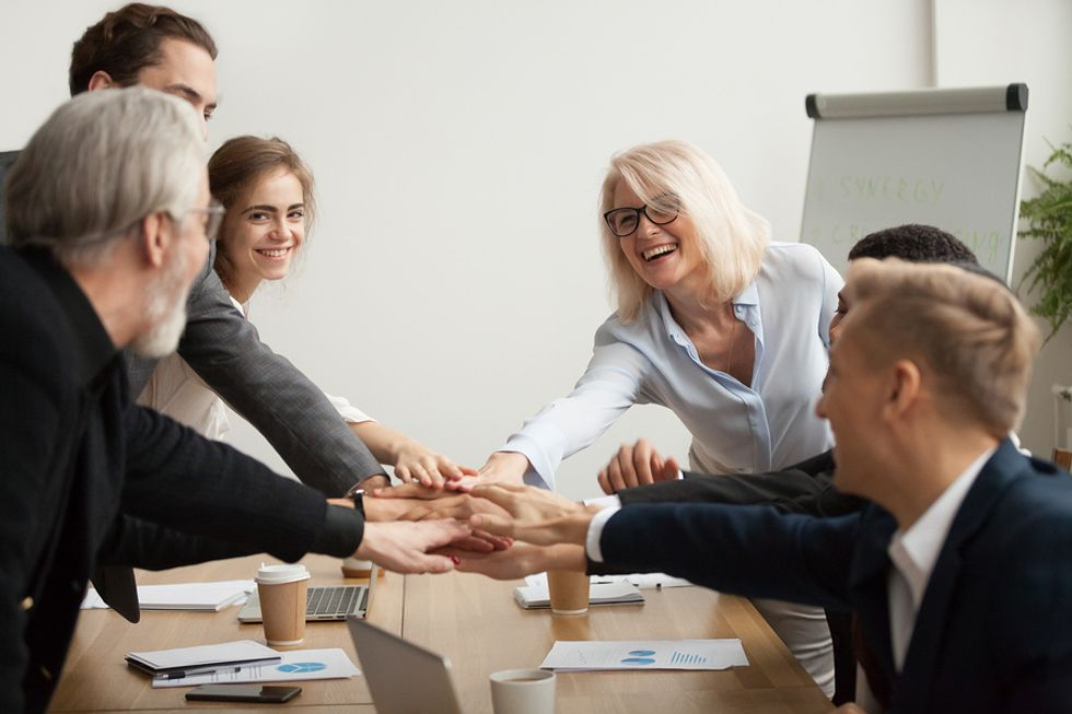 A good leader motivates others at work