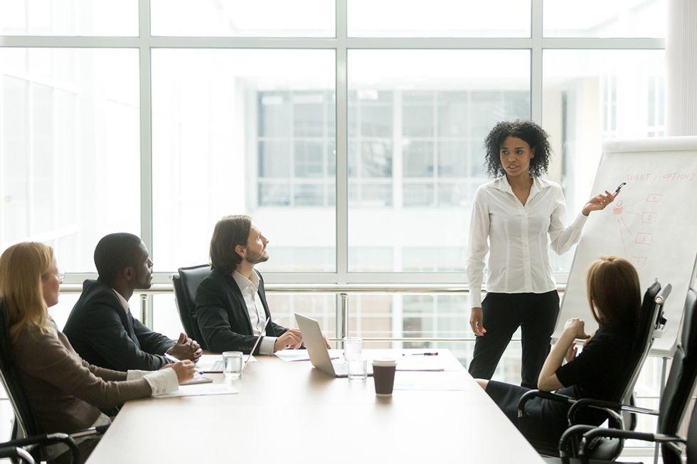 An executive inspires and nurtures innovative ideas