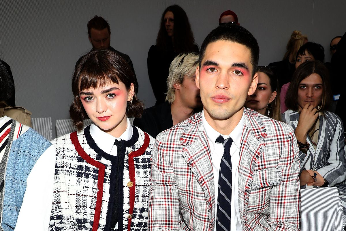 Maisie Williams and Reuben Selby Wore Matching Eyeshadow