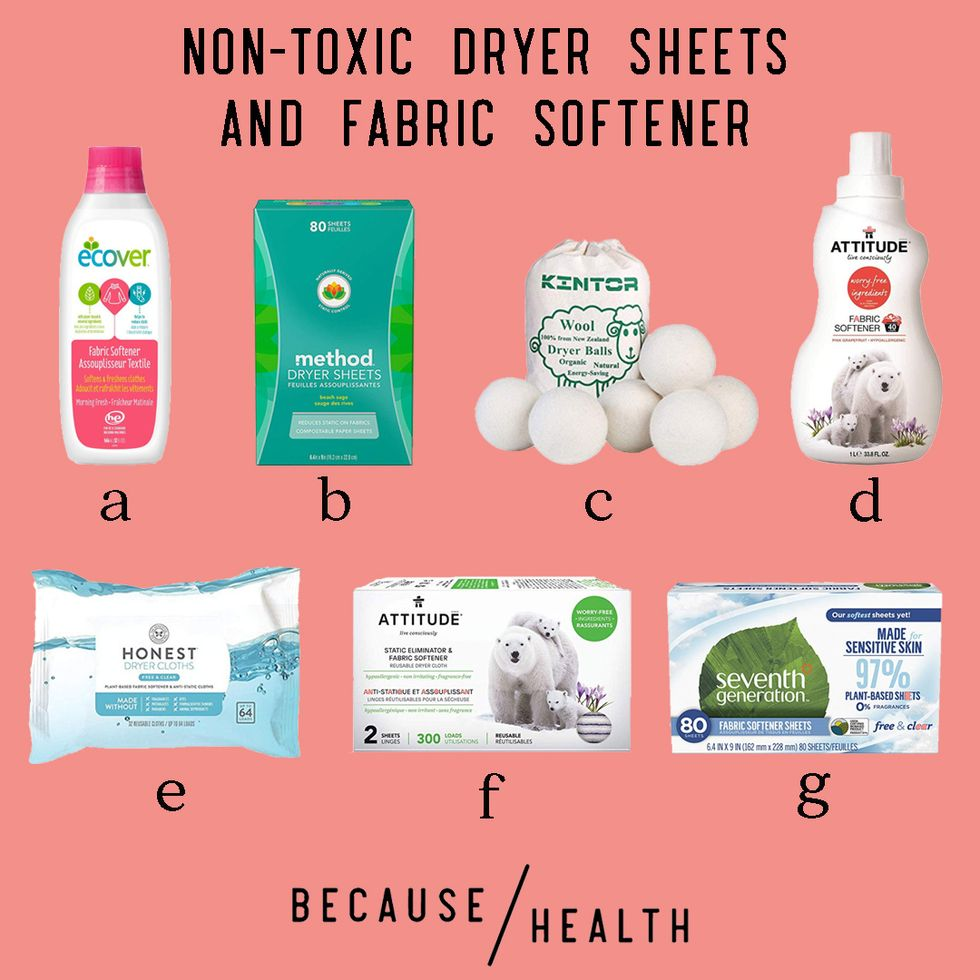 non-toxic dryer sheets and fabric softeners