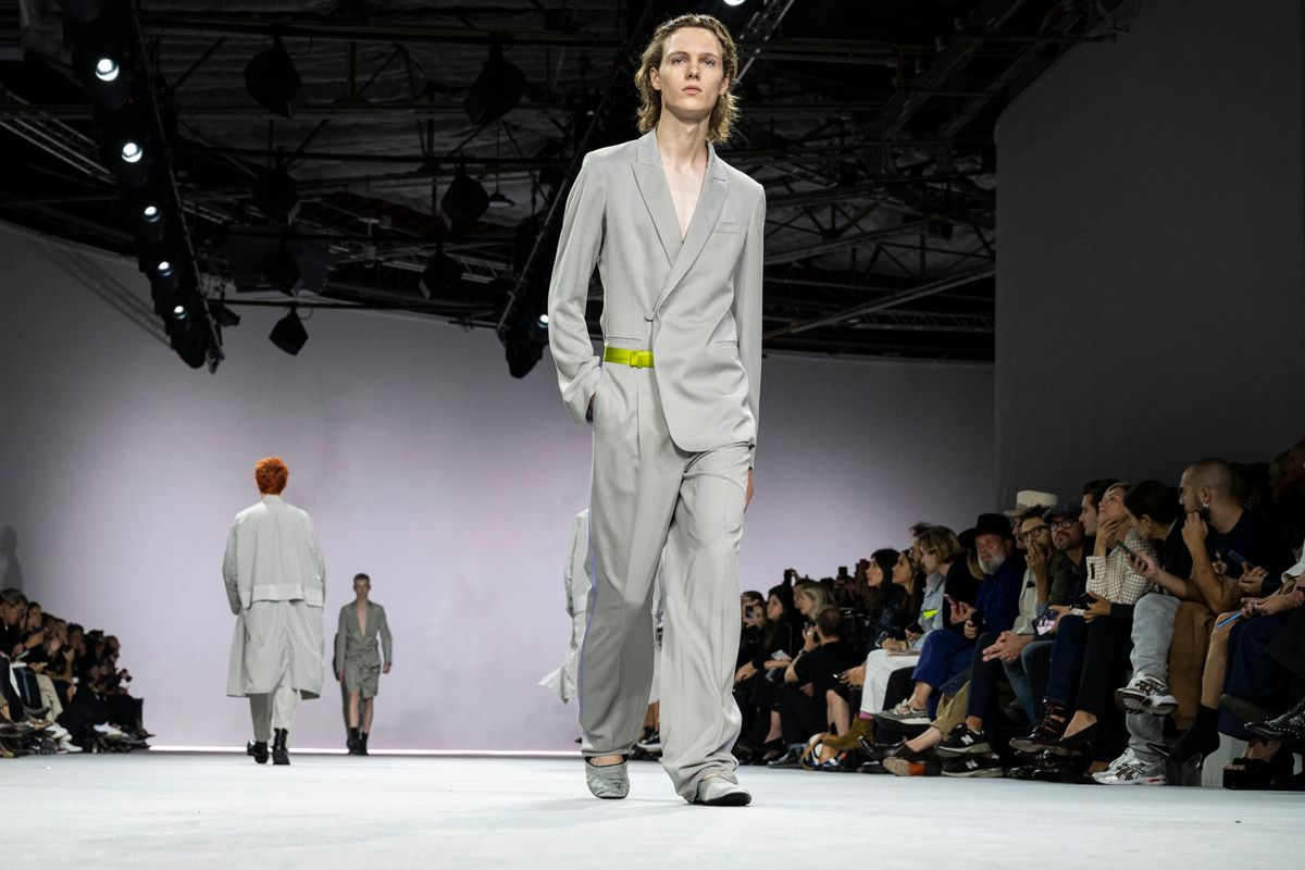 Haider Ackermann Goes Big on Cinched Waists and Androgyny