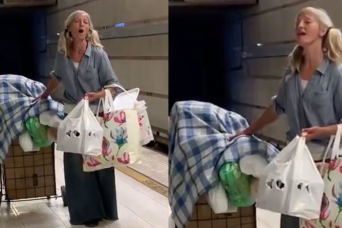 Video of a homeless woman singing opera in the LA subway captivates thousands