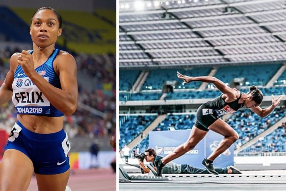 Allyson Felix just broke Usain Bolt's record—a mere 10 months after giving birth