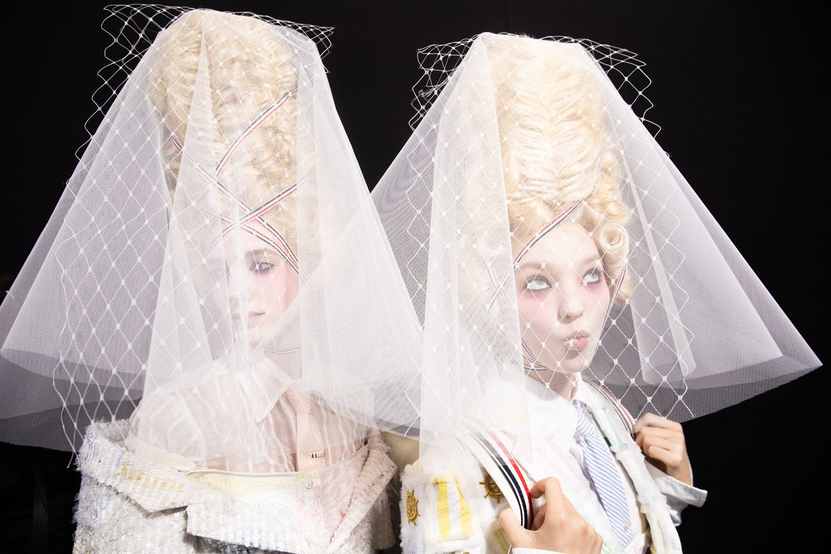Extravagant Marie Antoinettes Walked at Thom Browne