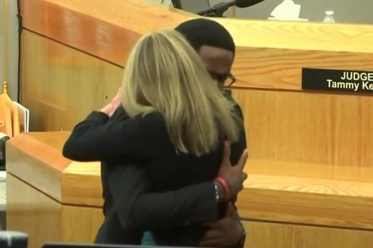 Botham Jean's brother asked to hug Amber Guyger after her sentencing