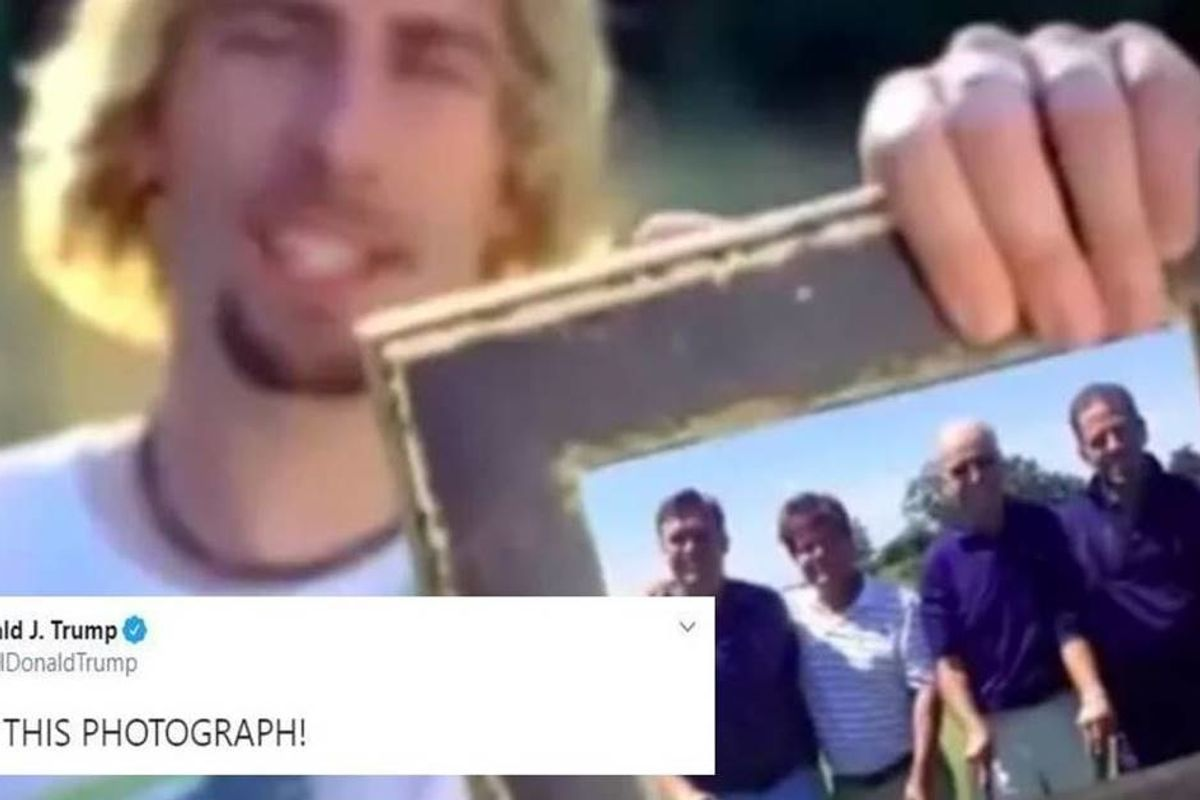 Nickelback's label forced Twitter to delete a video tweeted by Trump