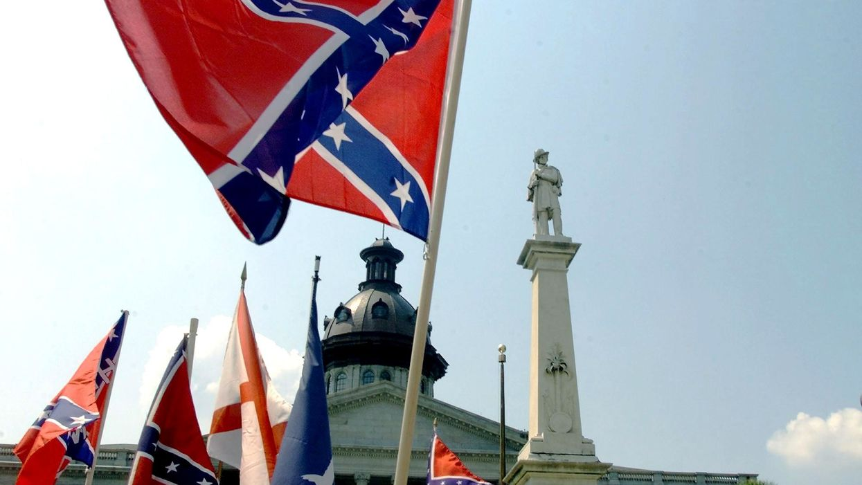 Teacher shares photo of Confederate flag in classroom, says it's 'white trash.' Punishment quickly comes.