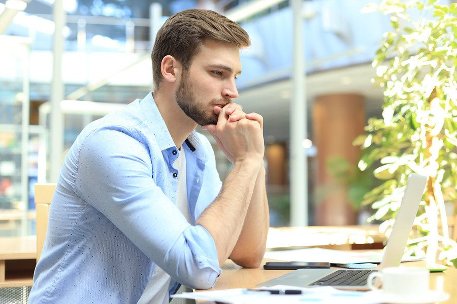 Professional man figuring out his career development plan