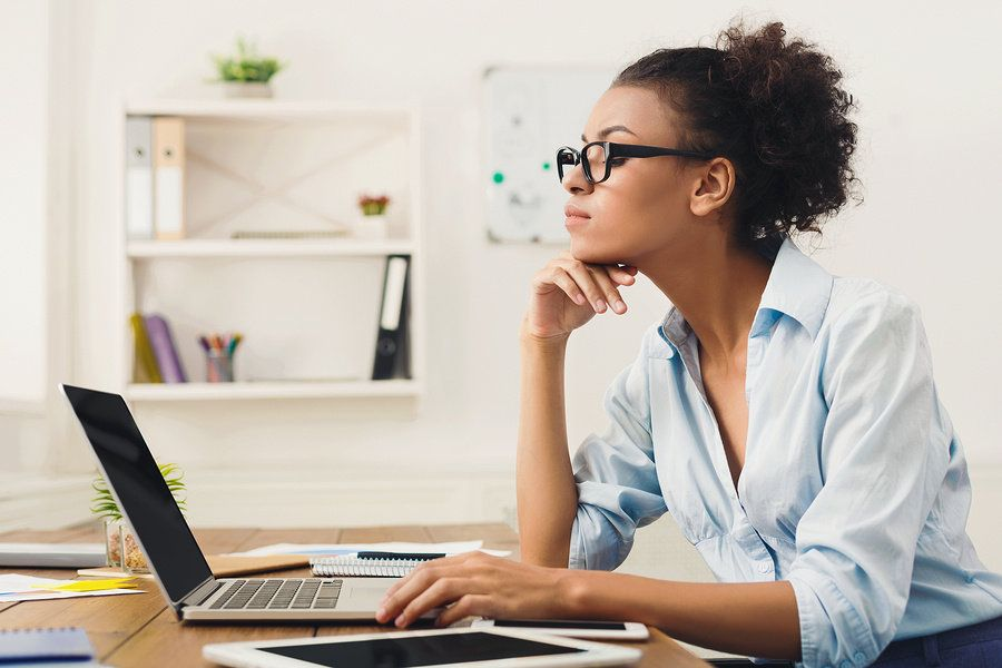 Professional woman creating her career development plan