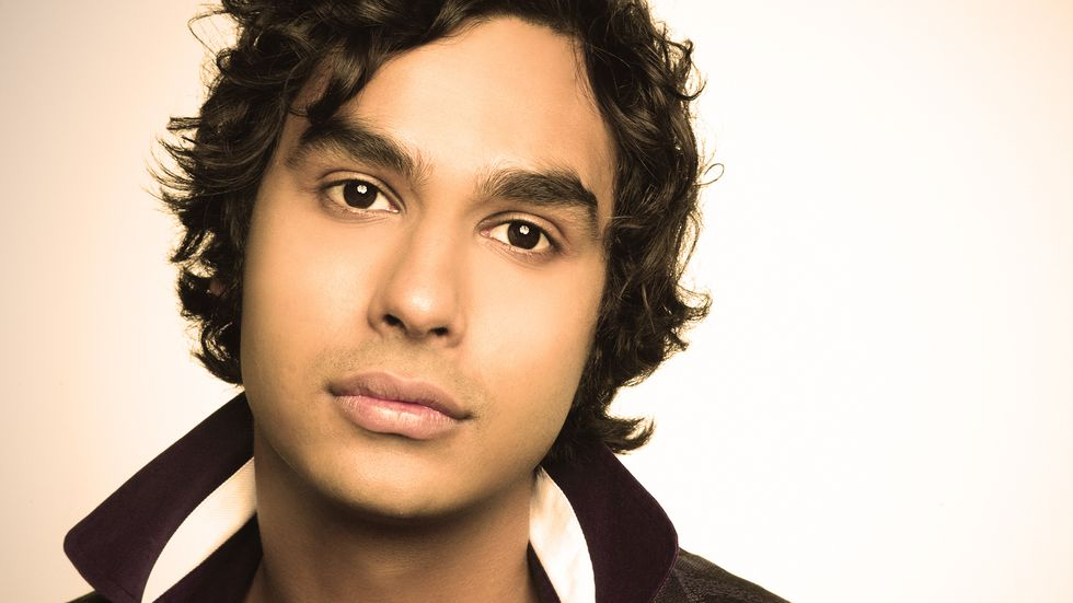 Kunal Nayyar looks deep into camera