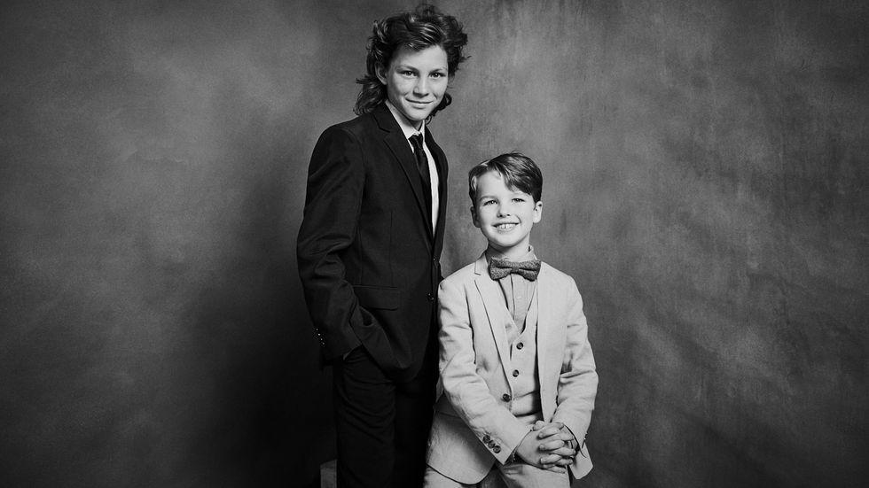 Young Sheldon's Montana Jordan and Iain Armitage