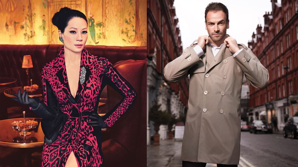 Lucy Liu and Jonny Lee Miller in fine fashions
