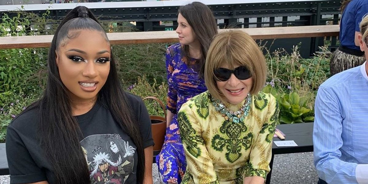 Behold the Power of Megan Thee Stallion Meeting Anna Wintour In a T-Shirt