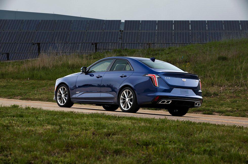 2020 Cadillac CT4-V exterior blue wheels trunk rear back light
