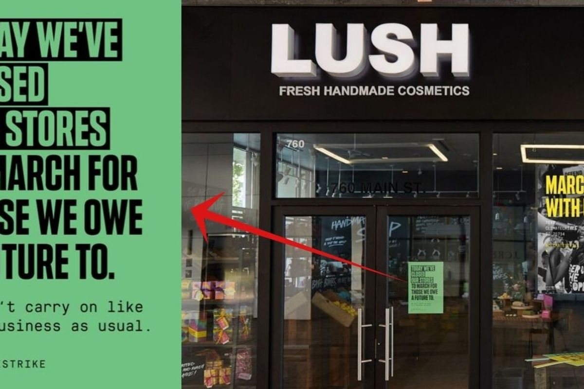 Lush to shut down all stores and operations, asking 5000+ employees to march for climate crisis