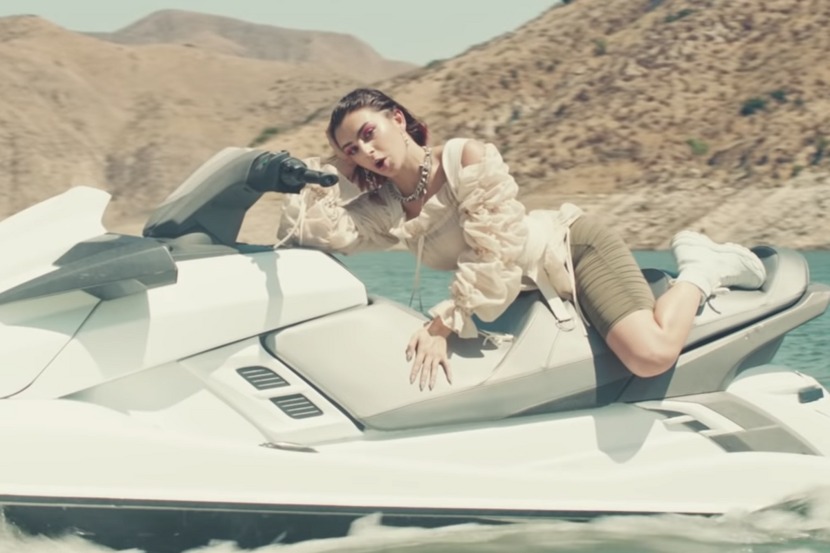 Charli XCX Balancing on a Jet Ski in '2099' Is Gay Rights