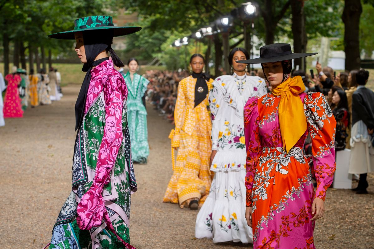Erdem's Mad Hatters at LFW