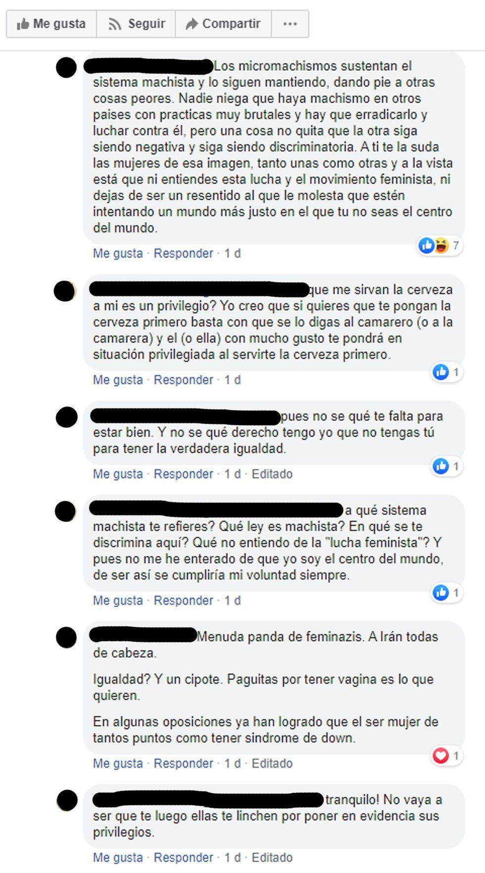 criticas usuarios articulos feministas polemica