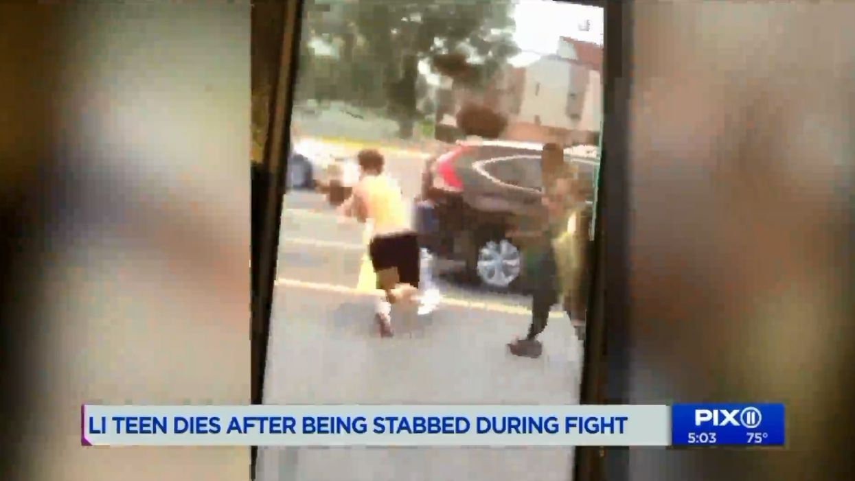 Police say several dozen young bystanders watched and recorded a fight that ended with a teenager being fatally stabbed