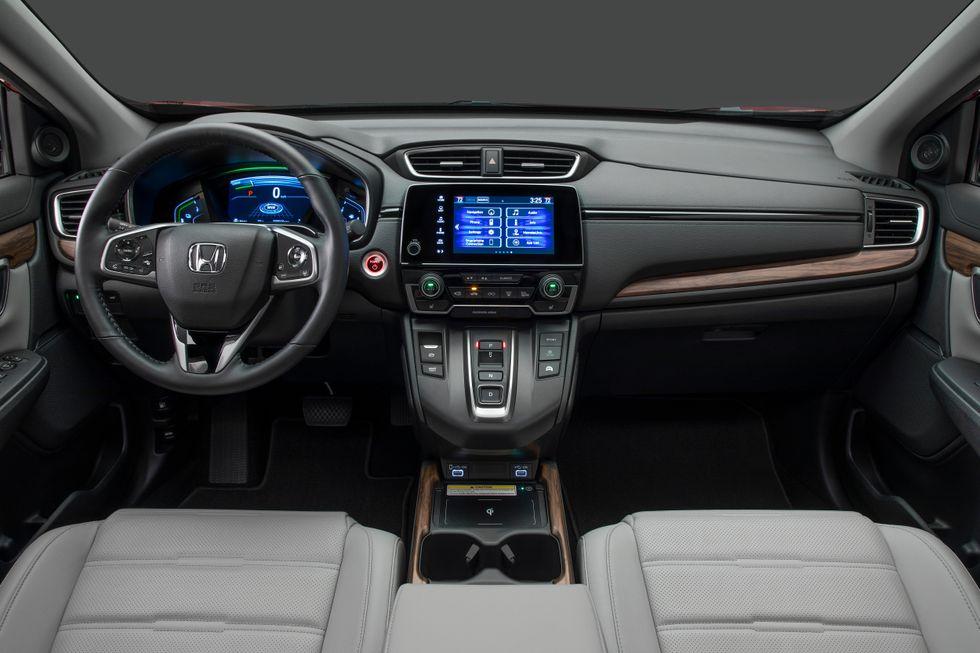 2020 Honda CR-V Interior Steering Wheel Shifter Drive Modes Screen