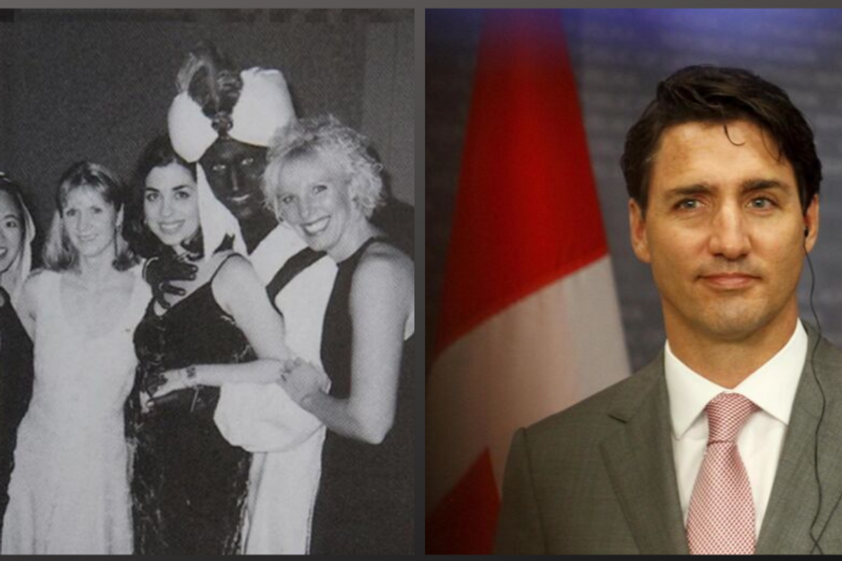 Una foto con la faccia dipinta di nero imbarazza Trudeau