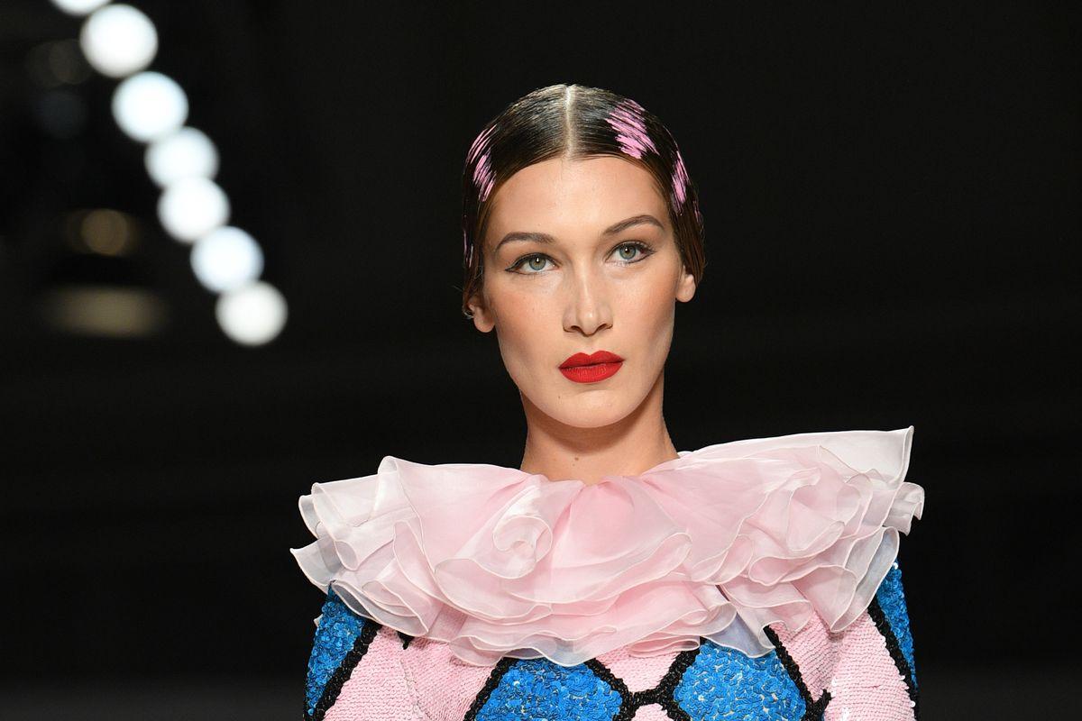 See Bella Hadid as a Glam Clown at Moschino