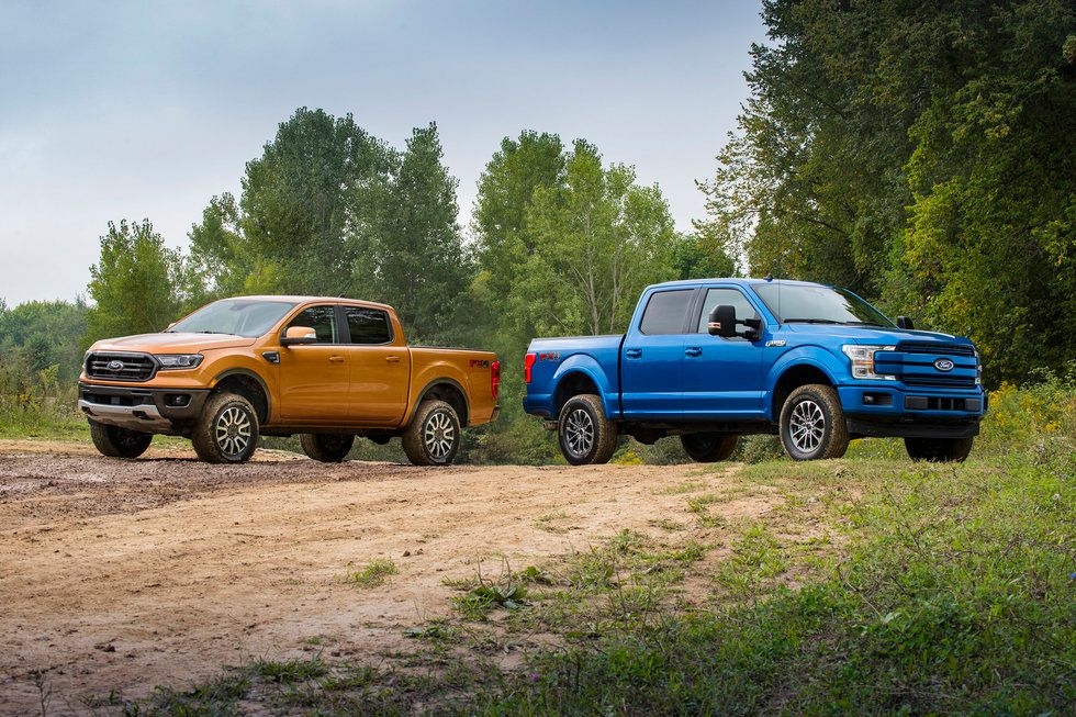 2019 Ford Ranger and 2019 Ford F-150 off-road leveling kit
