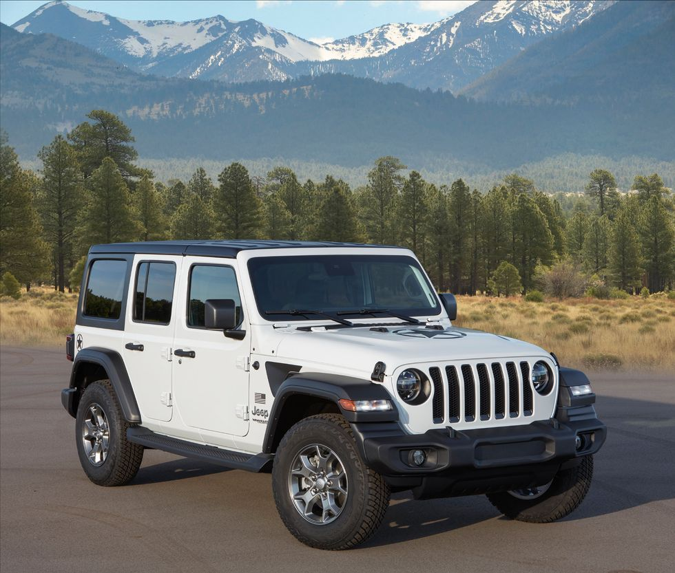 2020 Jeep Wrangler Freedom exterior grille wheels roof white