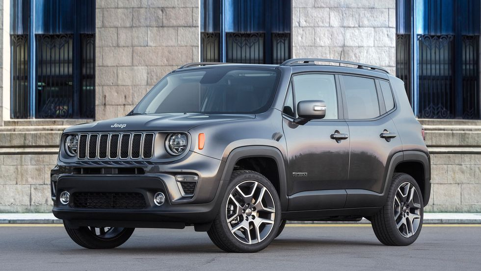 2020 Jeep Renegade Limited gray front grille lights wheels