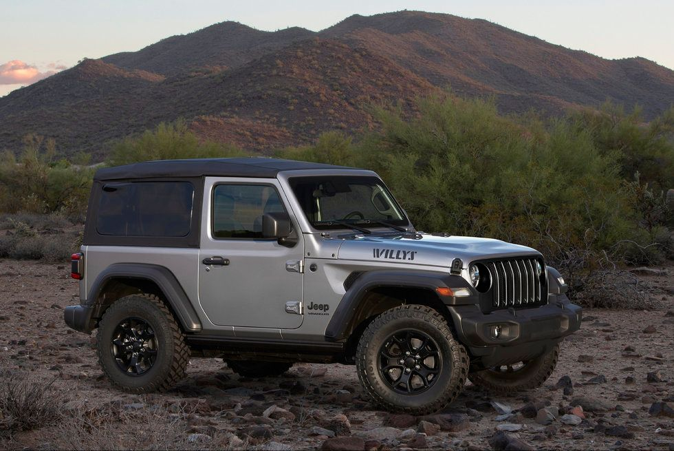 2020 Jeep Wrangler Willys exterior grille wheels roof