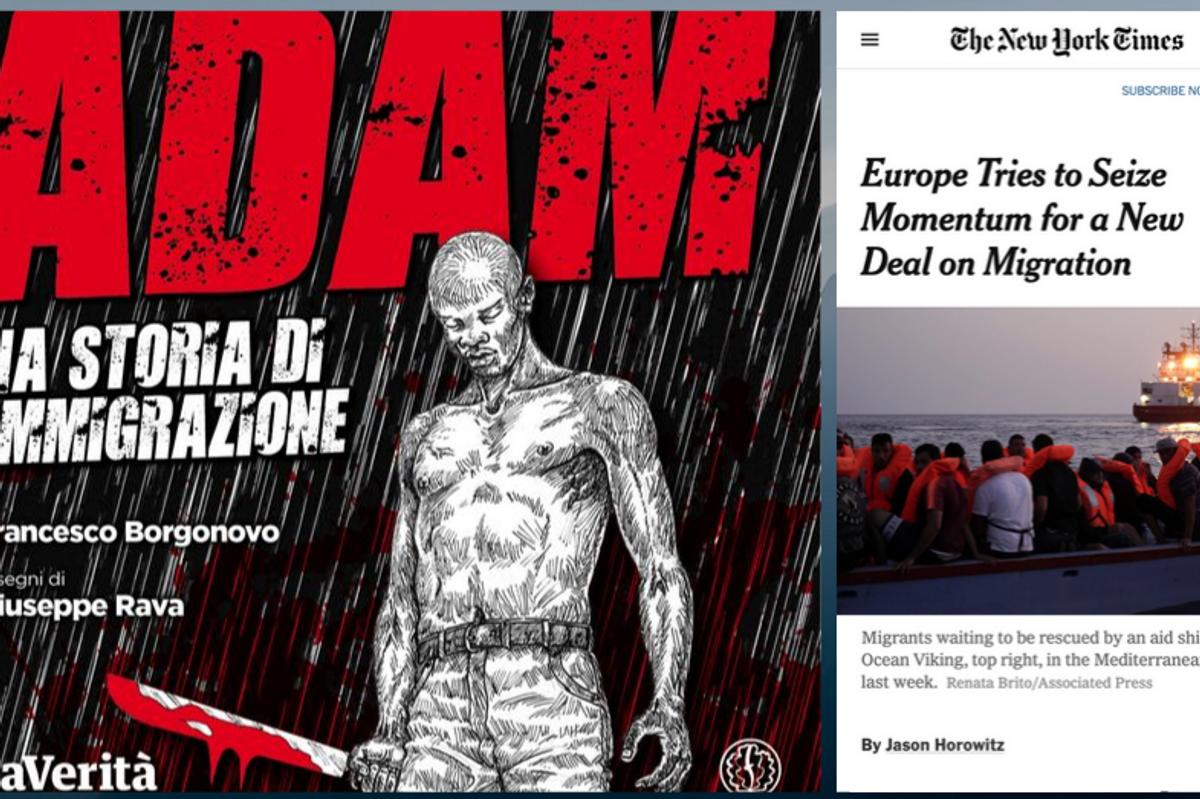 Anche il «Nyt» parla di «Adam», la prima graphic novel contro l'immigrazione